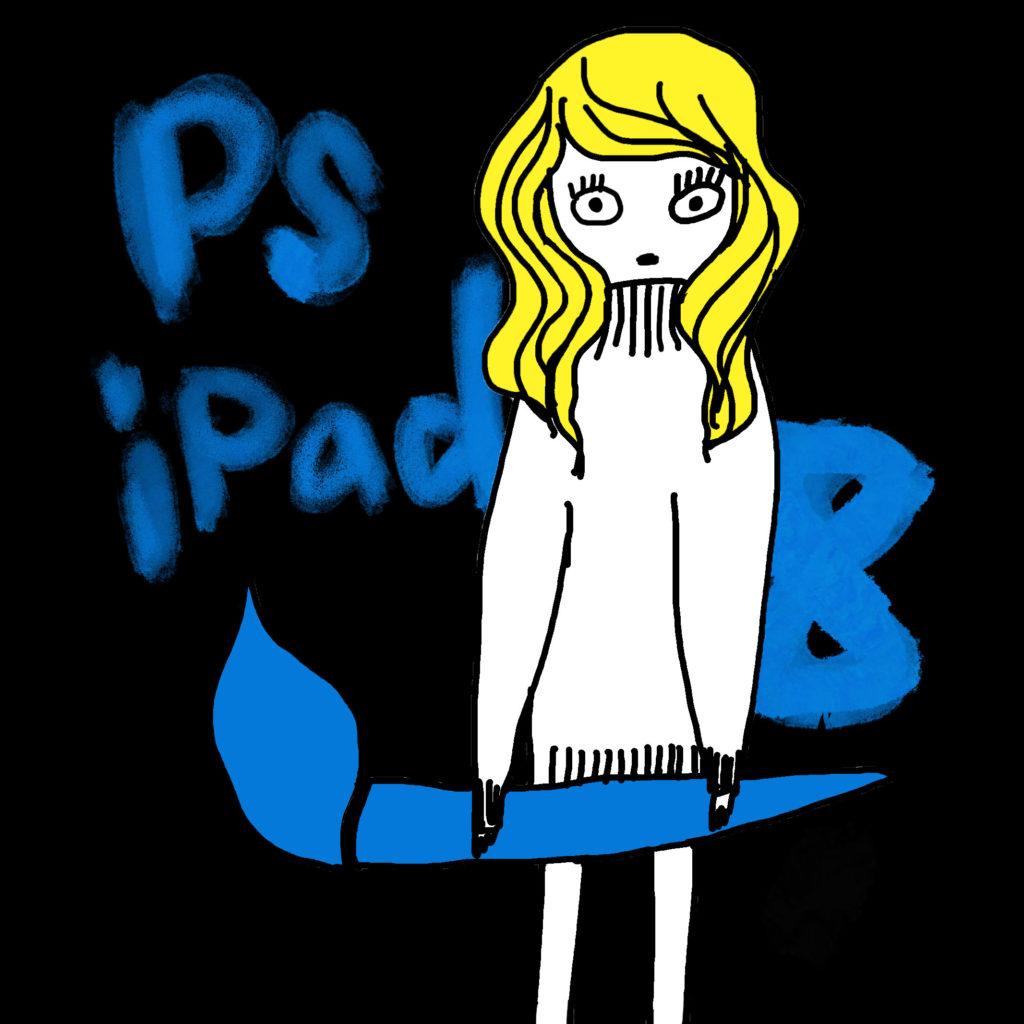 ペンを持った女の子のイラスト